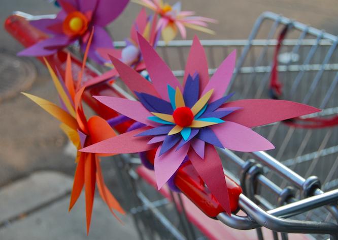 Paper Flower Street Art Allston Gabrielle Peck