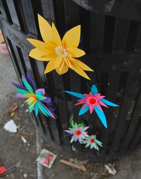 Paper Flower Street Art Boston Gabrielle Peck
