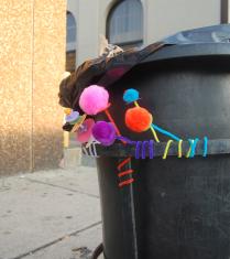 Whimsical Paper Flower Street Art Boston Gabrielle Peck